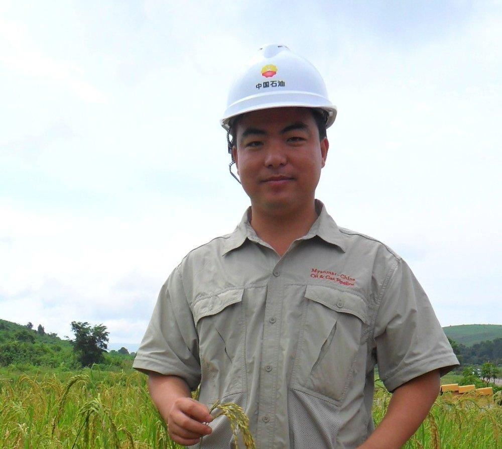 Oil industry days on site in Myanmar