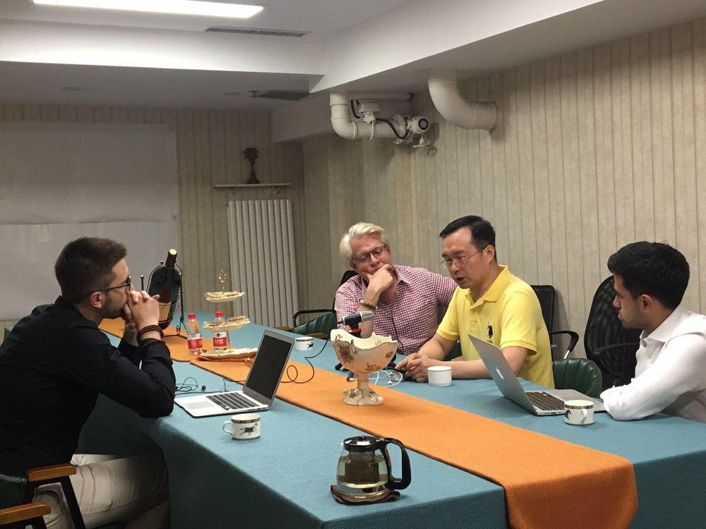 The Belt and Road Advisory Team interviewing Xu Wenhong in Beijing