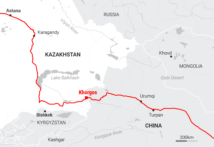 Source: SCMP Graphic  http://multimedia.scmp.com/news/china/article/One-Belt-One-Road/khorgos.html