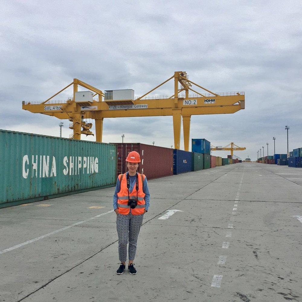 Visting Khorgos Dry Port in Kazakhstan