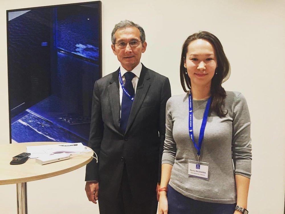 With Dr. Djoomart Otorbaev, former Prime Minister of Kyrgystan in 2017