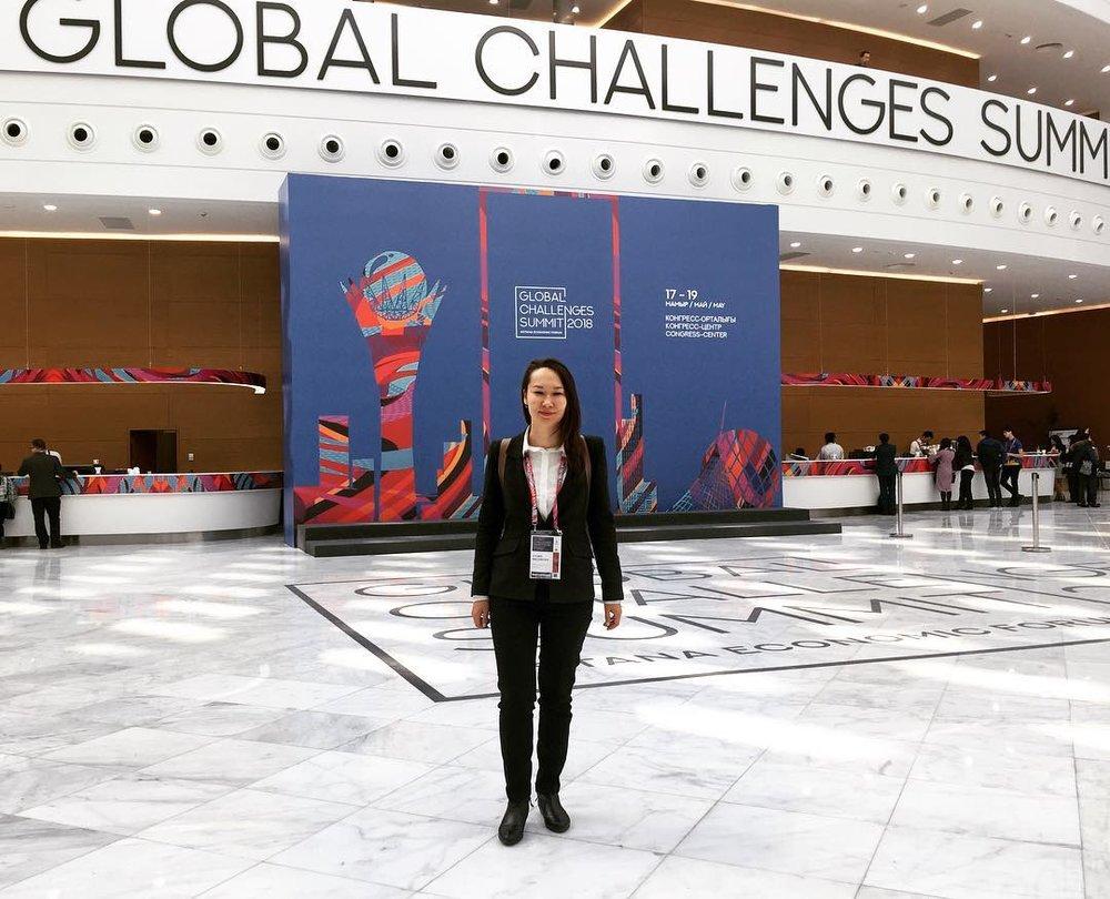 At the Astana Economic Forum 2018