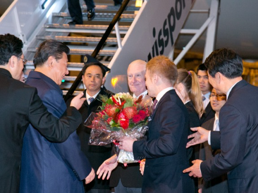 Welcoming President Xi to Manchester in 2015