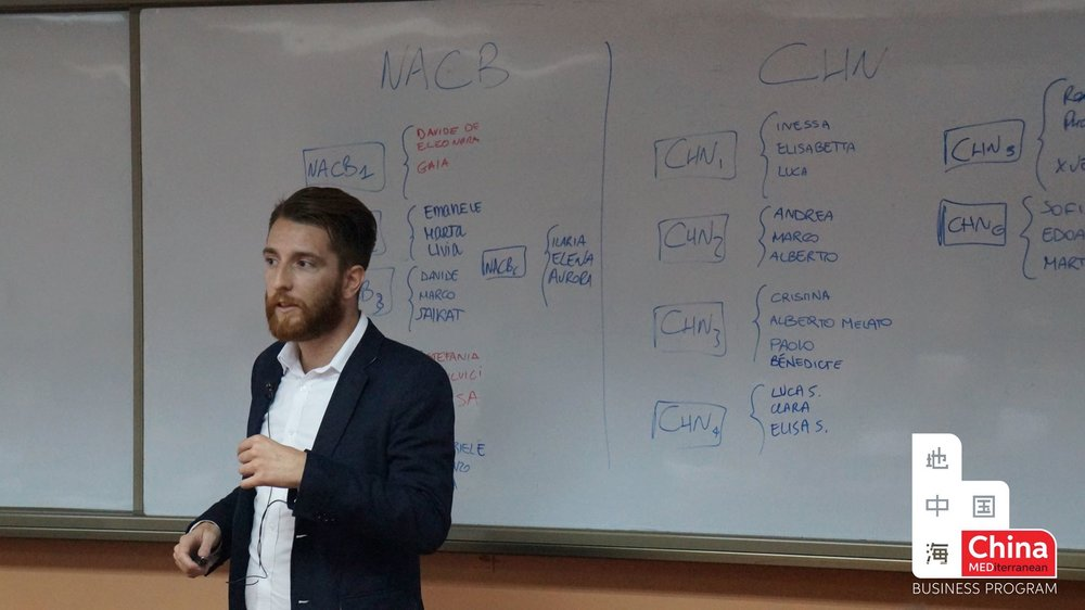 Giving a lecture at ChinaMed Business Program