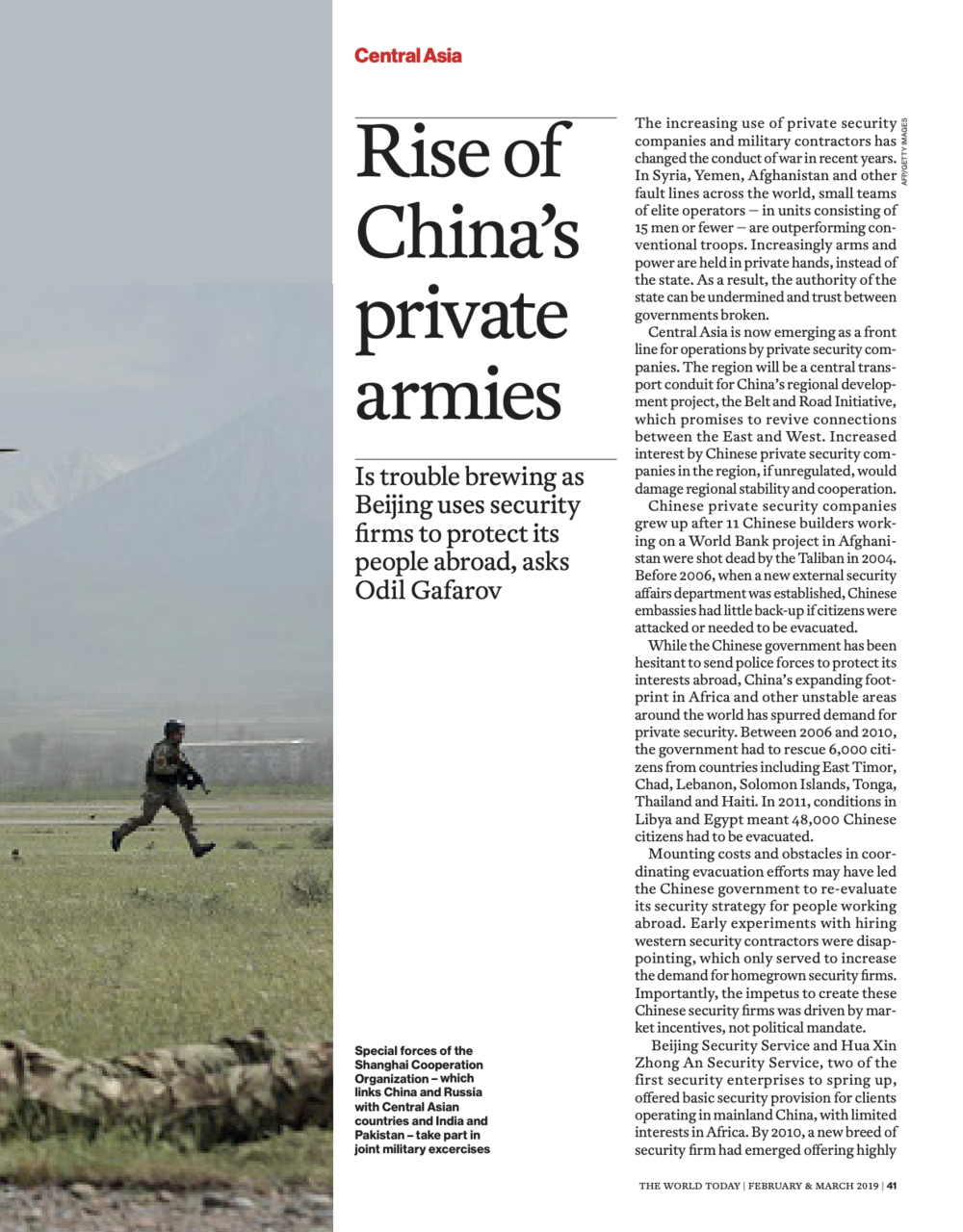 Rise of China's Private Armies
