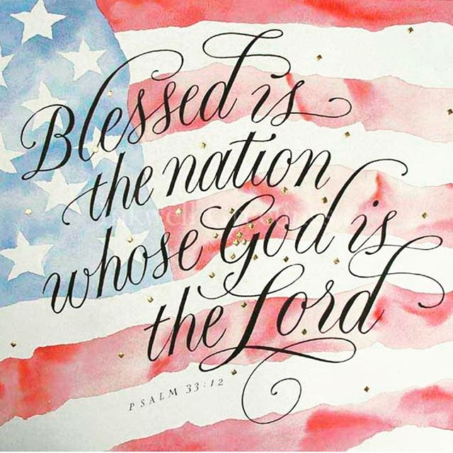 One Nation under God.  Independence Day is a time to remember our freedoms and thank God for them🇺🇸