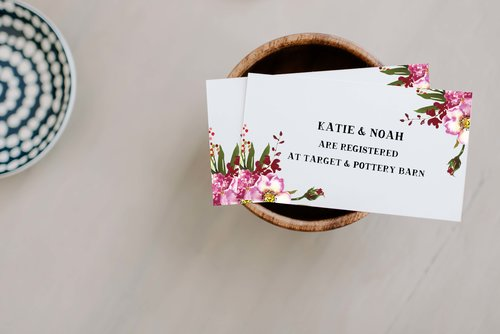 wedding registry inserts rustic blossom design invitations