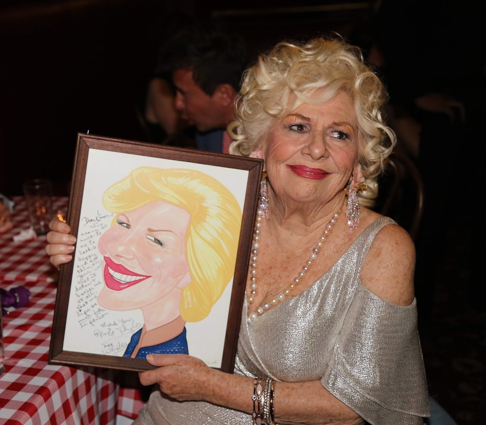 Renée with her Sardi's portrait