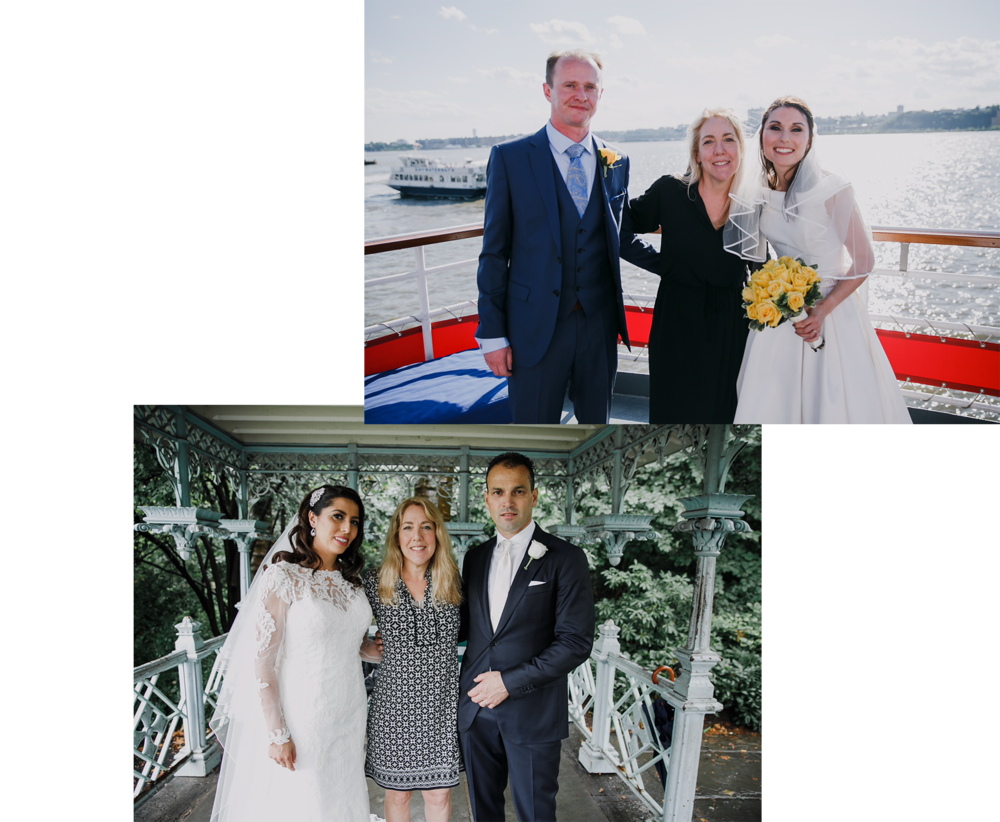 """""""Sharon was a great addition to our wedding. She listened to what we wanted and agreed on pretty much every idea we could imagine…She's great! You won't go wrong with her!"""" - / SALLY /"""
