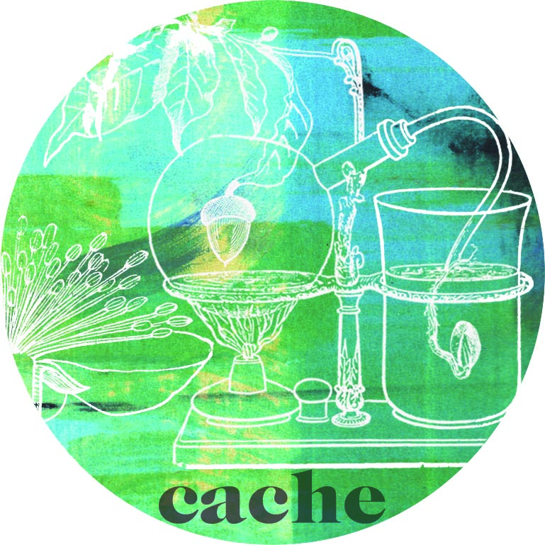CACHE ARTWORK BY WYLDE BRANDING CO - Aurora of Wylde Branding Co is a freelance designer specialising in graphics and branding for boutique sized creative and culinary industries.A graduate of Central Saint Martins who works mainly with digital collage of vintage, botanical, photographic/screen print imagery and type to create unique and whimsical designs.