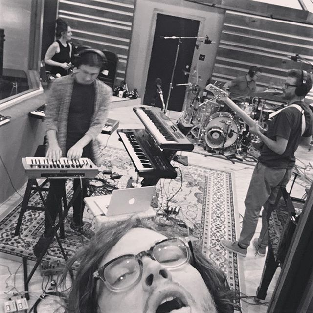 WE'RE IN THE STUDIO AND WE R STREAMING!!!! LINK IN BIO!!! @kiwiaudio #newmusic #weareiverson #abolishfear #studio #chicagomusic #recording #newalbum #studioporn #chicagomusicians