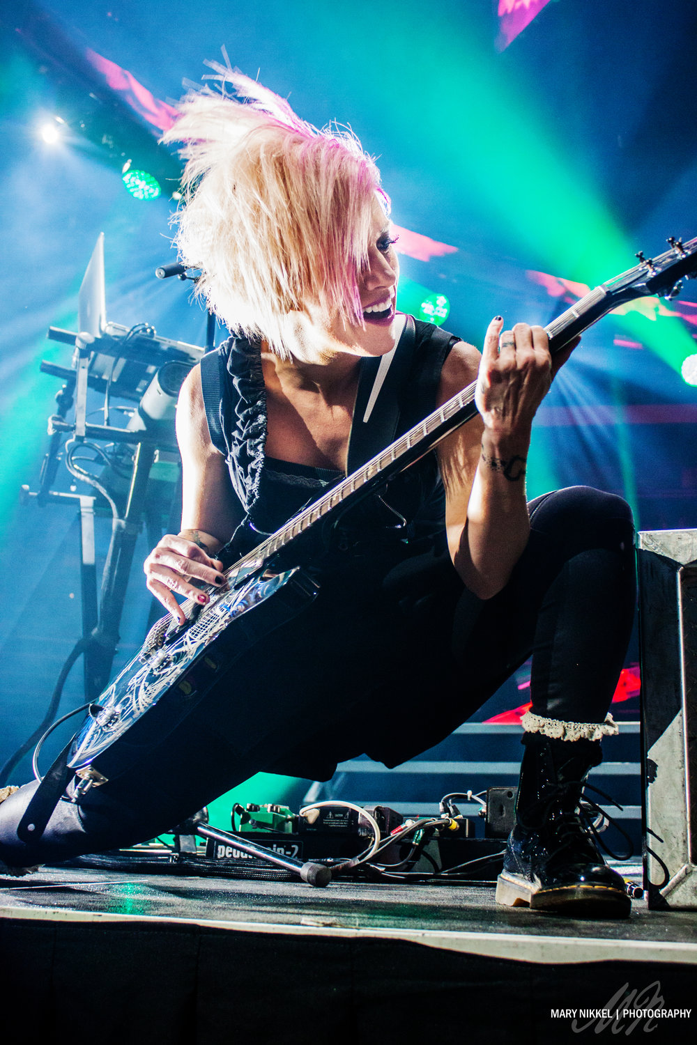 Korey Cooper of Skillet, photographed on Winter Jam tour 2015; featured on Skillet's Facebook page (5.1 million followers)