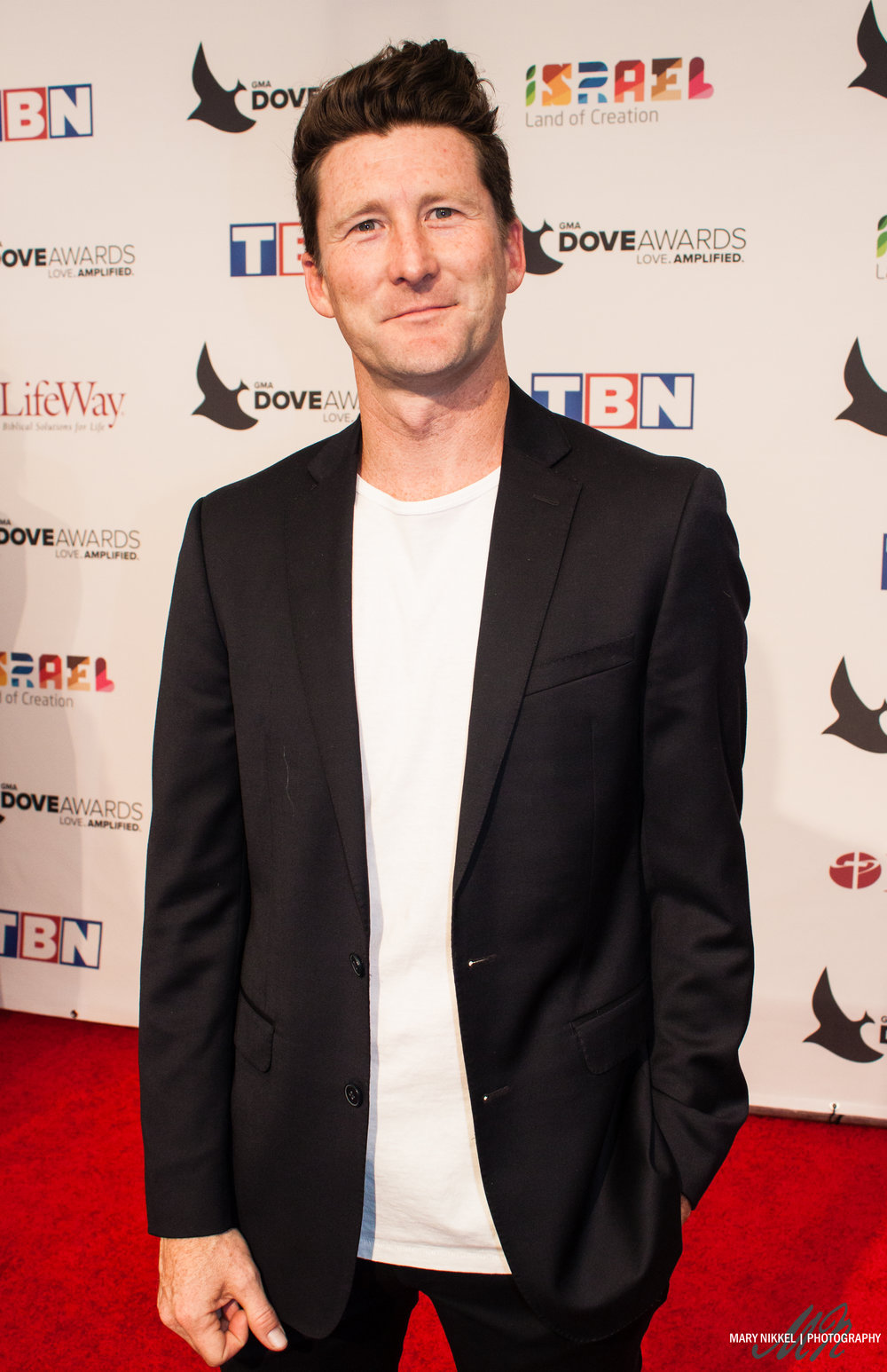 Stephen Christian of Anberlin on the 2016 GMA Dove Awards red carpet