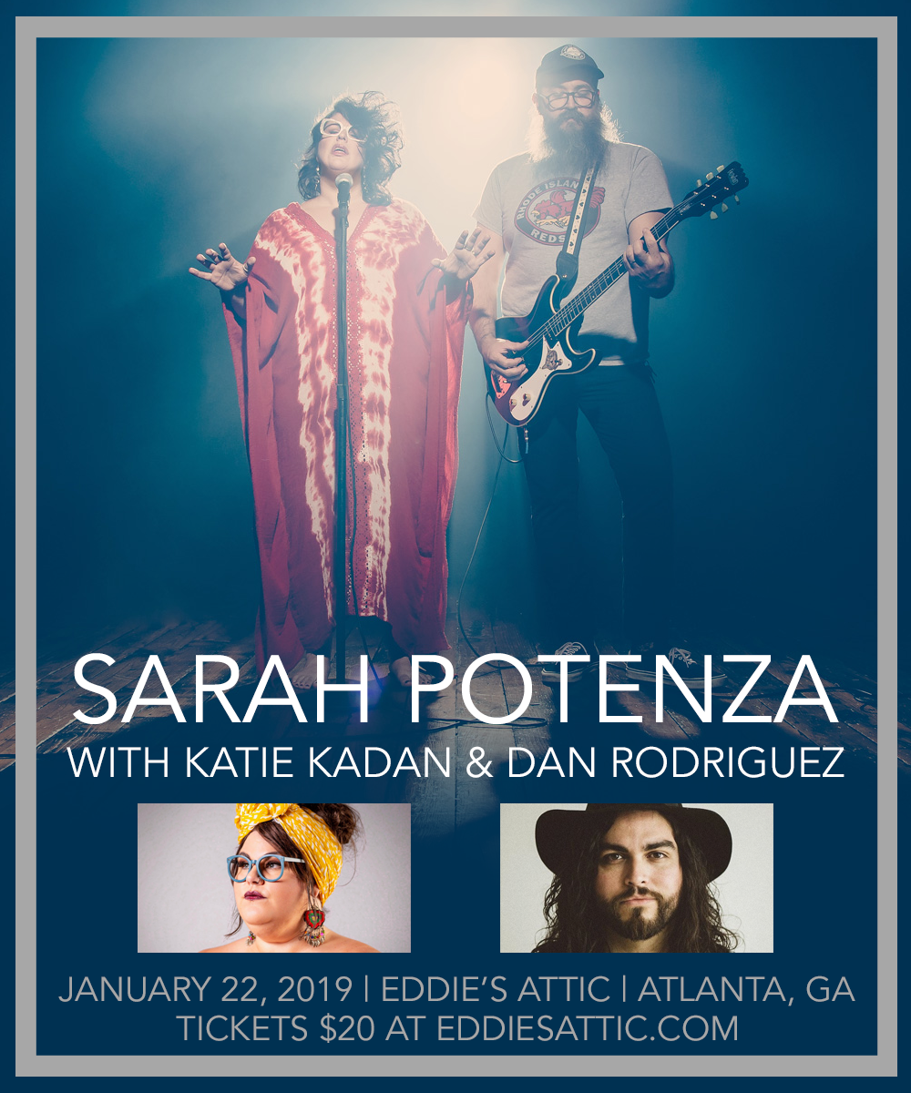 Tour flyer designed for recording artist and The Voice contestant  Sarah Potenza