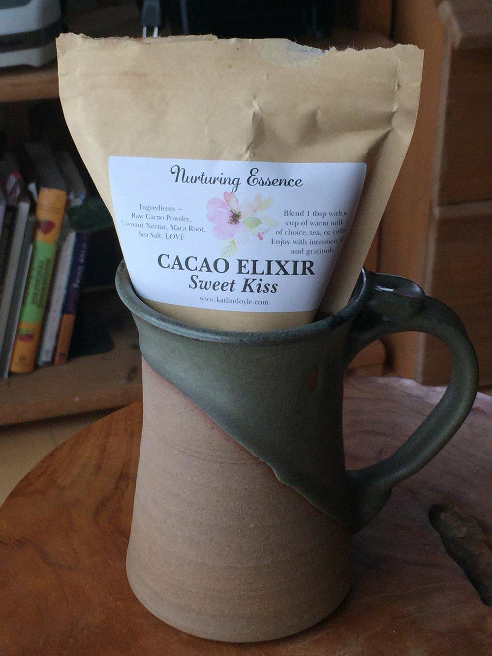 Sooooo goood Cacao Elixer (and delectable treats) by Katlin Doyle of Nurturing Essence