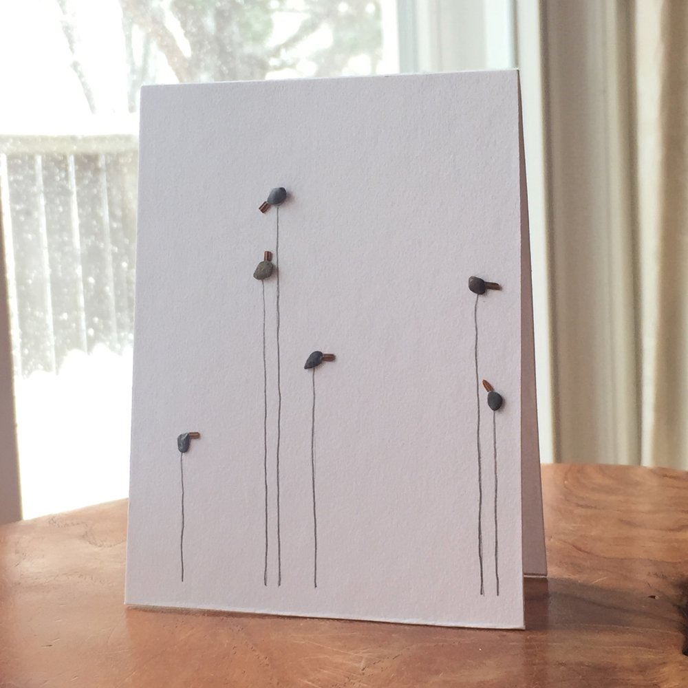 Pebble Art Cards! Tenderly made by artist Niki Heddle.