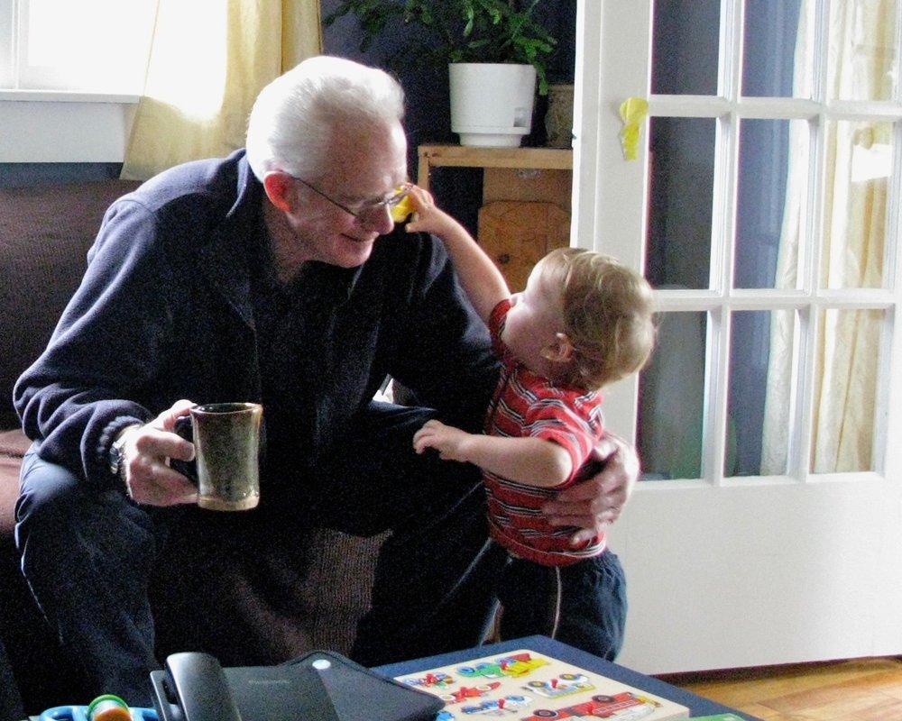 Kenny with his grandson, my boy Jasper.