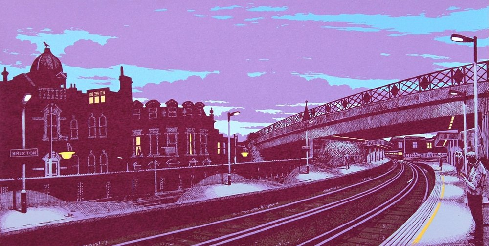 Waiting For A Train (Brixton Skyline)
