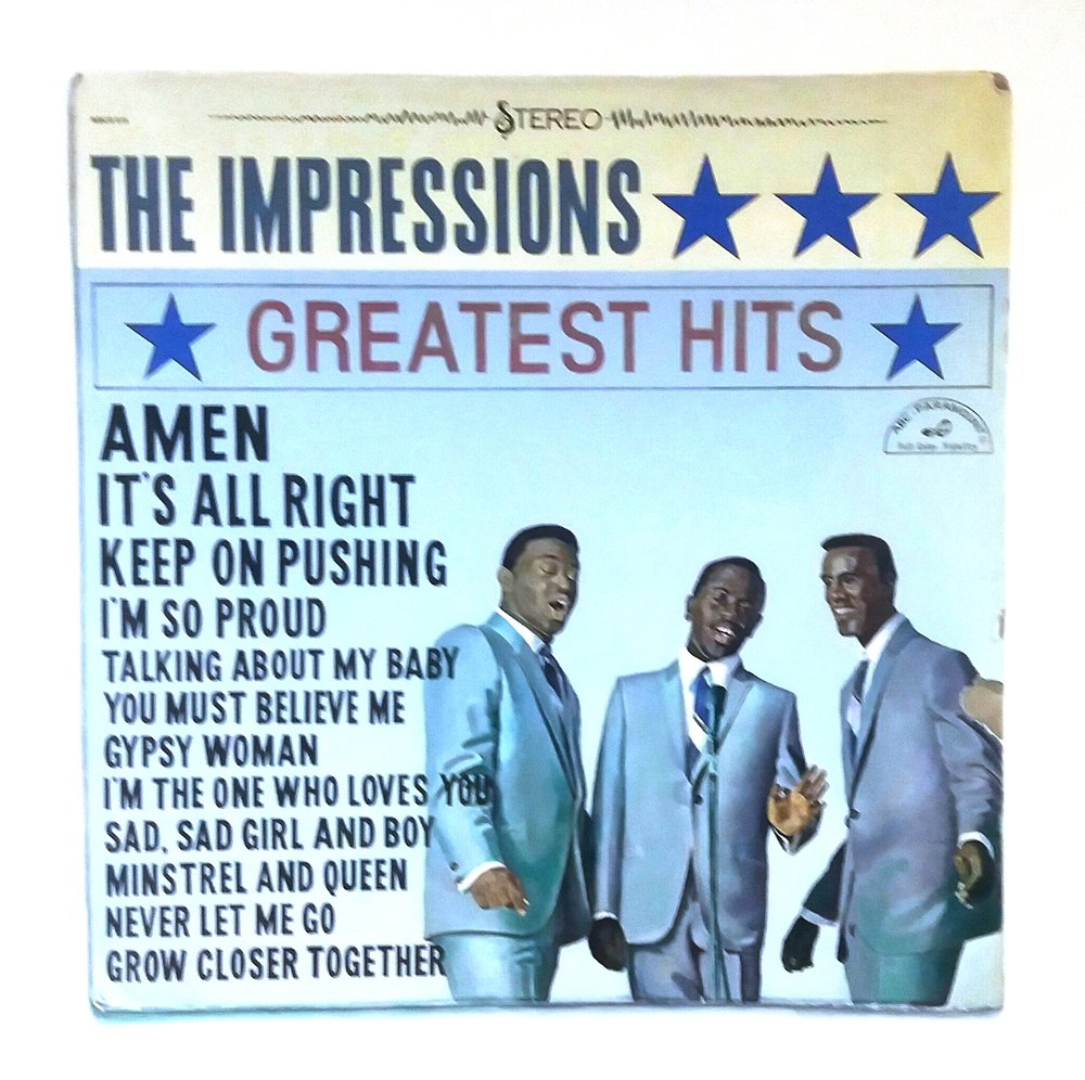 The Impressions Greatest Hits -  acrylic on canvas.