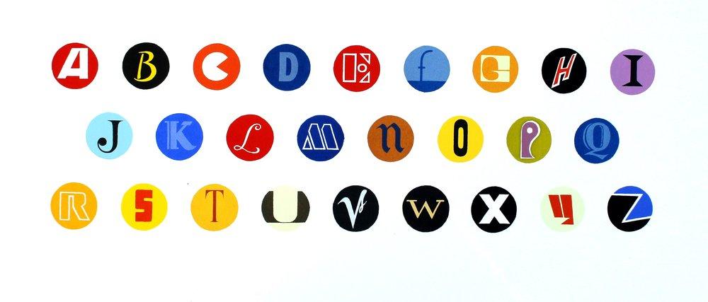 Alphabet Of Record Labels, Vol I -  screen print