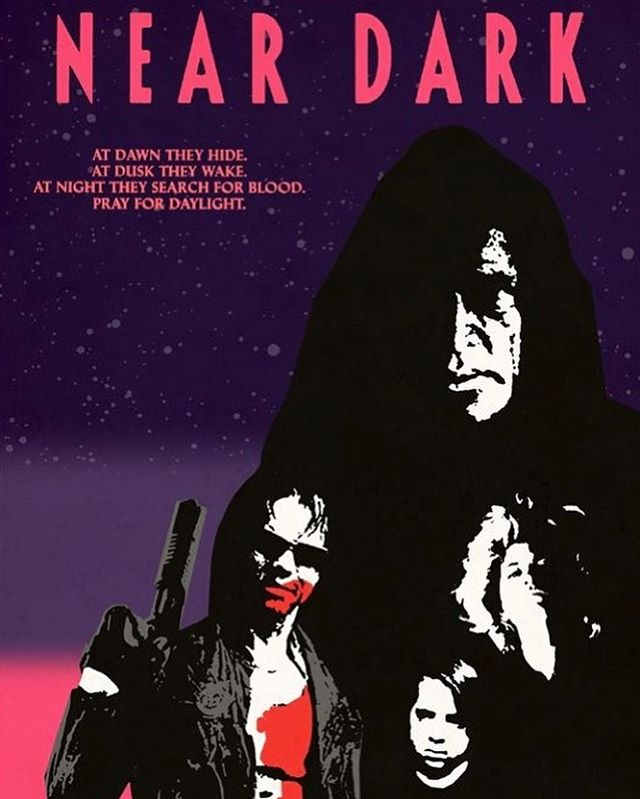 Day 14: NEAR DARK (1987; Dir. Kathryn Bigelow) — — This is one of the darkest and most unique vampire movies of the 1980's; it strips the vampires down to their most primal level and throws them into the desert for a bleak, yet beautiful, road movie that feels like The Lost Boy's by way of The Devil's Rejects. One of the greatest moments in any vampire movie is when Caleb and Mae are looking up at the stars and she says that the light leaving those stars right now will take a million years to get here, and the reason she's not like other girls is because she'll still be around to see it. — — #halloween #31daysofhalloween #31 #october #horror #horrormovies #horrorfans #halloweencountdown #horrorwriter #horrorlover #vampires #vampire #neardark #kathrynbigelow #80s #classichorror
