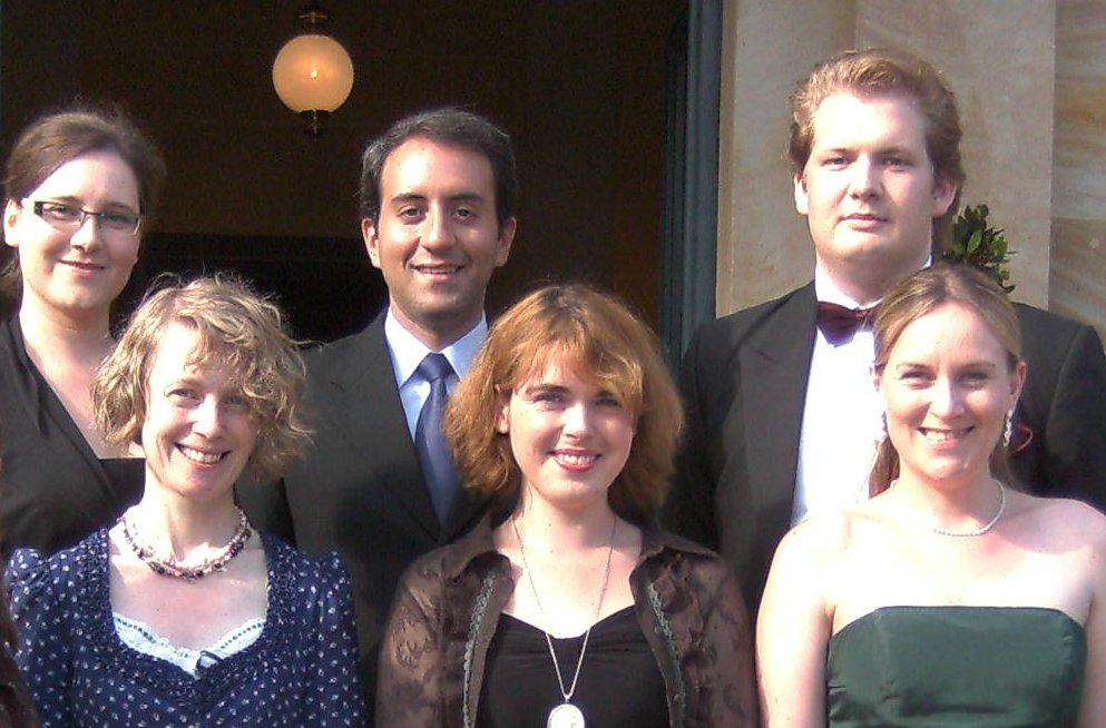Von links nach rechts: Franziska Hösli, Theresia Renelt, Andrés Felipe Orozco Martinez, Angelica Böttcher, Jesko Sirvend, Susanne Niebling