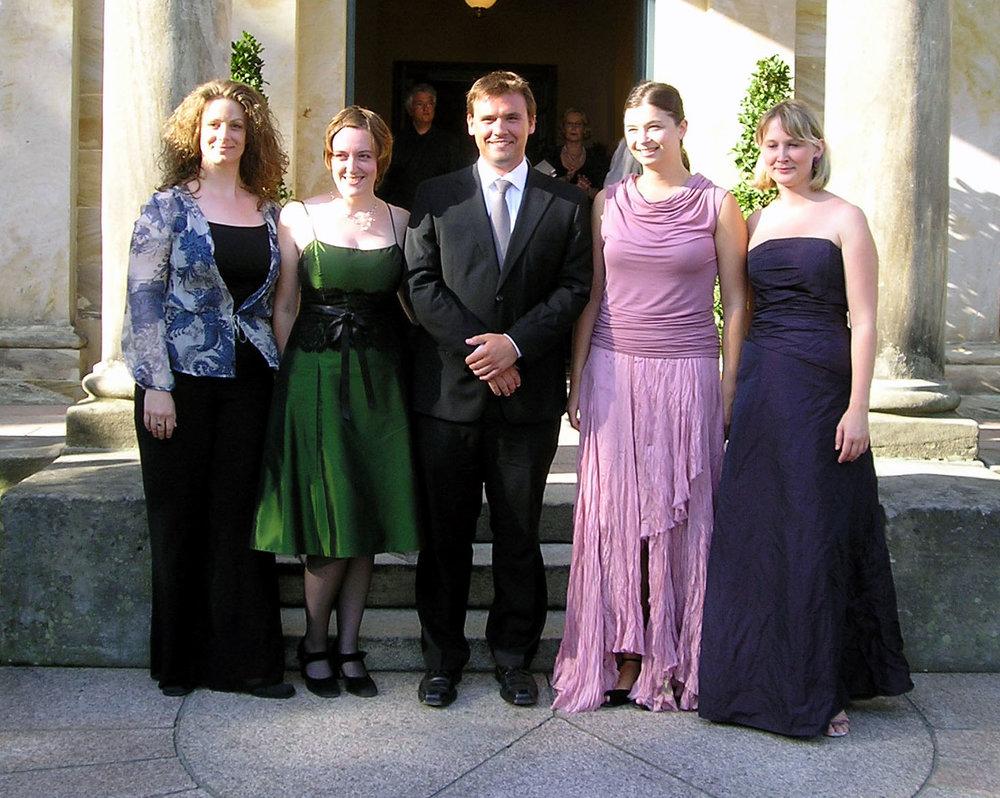 Von links nach rechts: Joslyn Rechter, Sylvie Döring, Martin Schmidt, Antoaneta Emanuilova, Melanie Spitau, (ohne Abbildung Ausrine Stundyte)