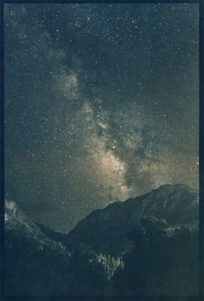 Denis Roussel, Above Ouray, Cyanotype