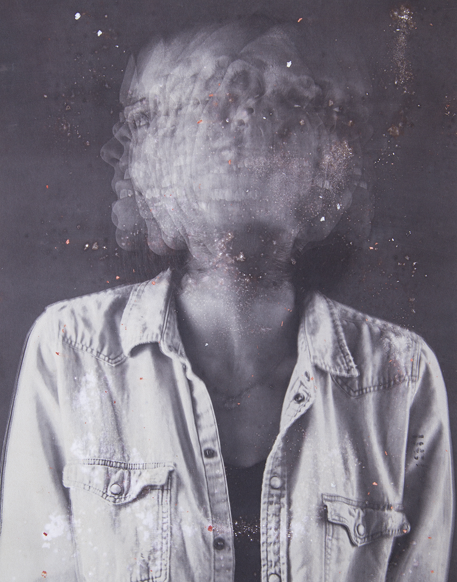 """5) Lack of Concentration, 11""""x14"""" Salt print w/anxiety medication"""