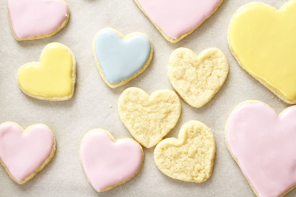Conversation Heart Cake Mix Cookies by Miss Jones Baking Co | featured at Didn't I Just Feed You, a food podcast for parents