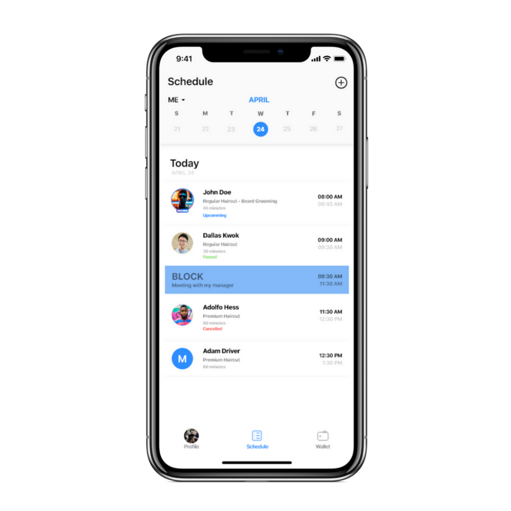 Simplify and manage appointments around your schedule -