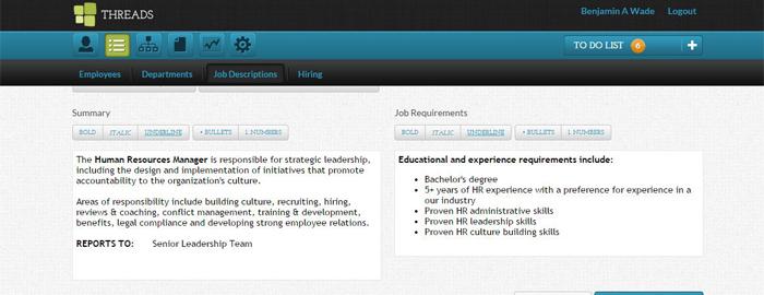 Threads Software Updates: Job Descriptions — Threads Culture