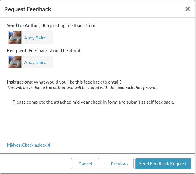 screenshot of request feedback modal mid year check in docx as attachment.png