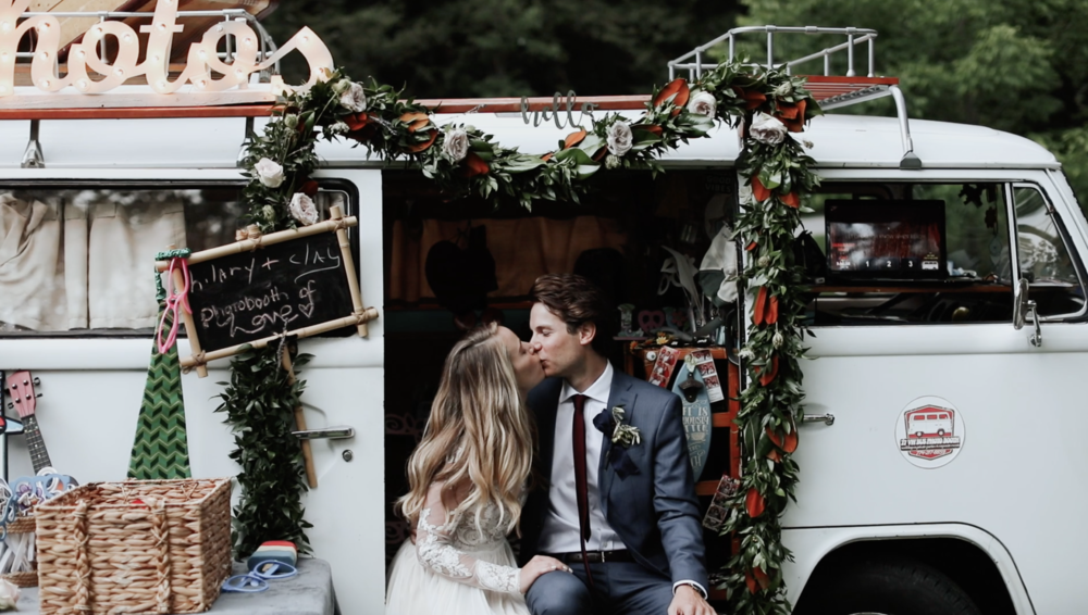 Photo Bus at Edson Hill Wedding in Stowe, Vermont