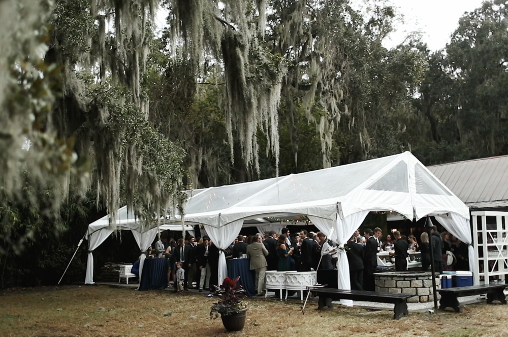 Cocktail hour at Magnolia Plantation Wedding in Charleston, SC