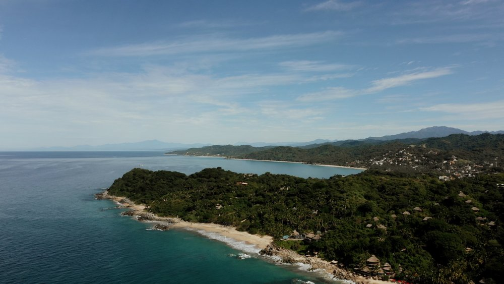 Drone Shot Teitiare Estate Sayulita Wedding Venue