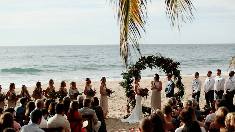 Beach Ceremony Setup Teitiare Estate Sayulita Mexico Wedding