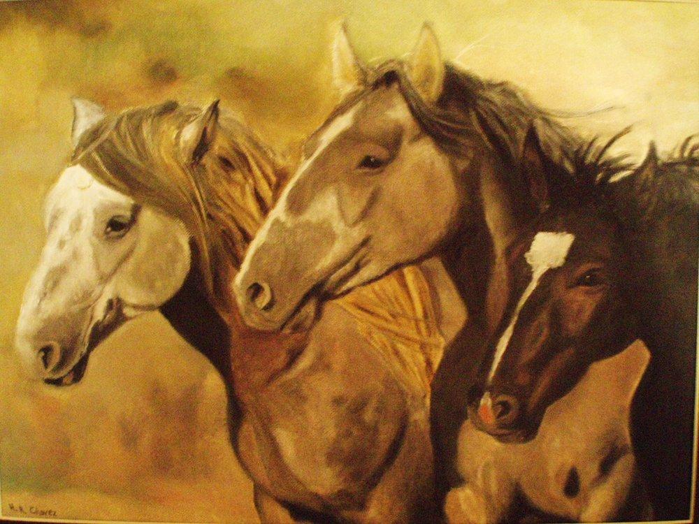 "Oil on canvas. 12"" x 16""."