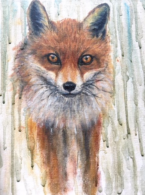 "Oil on canvas. 9"" x 12""."