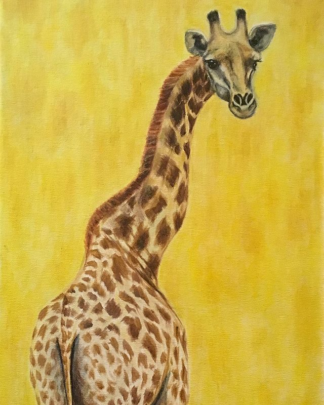 It's #WorldGiraffeDay ! These beautiful, lanky creatures have the longest necks on the planet. Sadly, they have been put on the Endangered Species list this year due to rapid decline in their population.  They may not be the most common face of trophy hunting today, but hunters continue to kill them just as brutally as other species, and will keep on unless we keep fighting to BAN TROPHY HUNTING. Killing wild animals is not conservation. No animal is here for us or our entertainment. Support organizations that work to save them and other endangered species ♥️ . . #bantrophyhunting #conservation #nature #animals #wildlife #inthewild #giraffe #racingextinction #endangered #art #artforacause #artivism #artofcompassion #animalportrait #painting #veganart #animalart #animalartist #art_spotlight