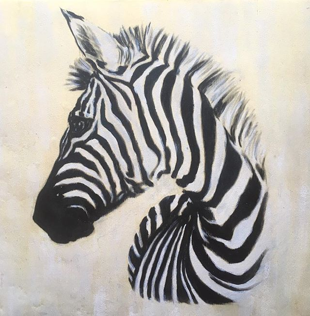 Acrylic on wood panel. Zebras are so beautiful and intriguing. Nature is amazing 🐾 . . #zebra #animals #animallovers #animalart #art #painting #artist #artistsoninstagram #wildlife #nature #animalartist #acrylicpainting #paintingonwood #woodart #animalkingdom #allgoodthingsarewildandfree