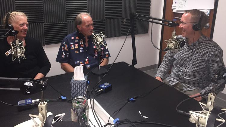From left to right: City of Oceanside Director of Neighborhood Services, Margery Pierce; former client, Marshall; Interfaith CEO and podcast host.Greg Anglea