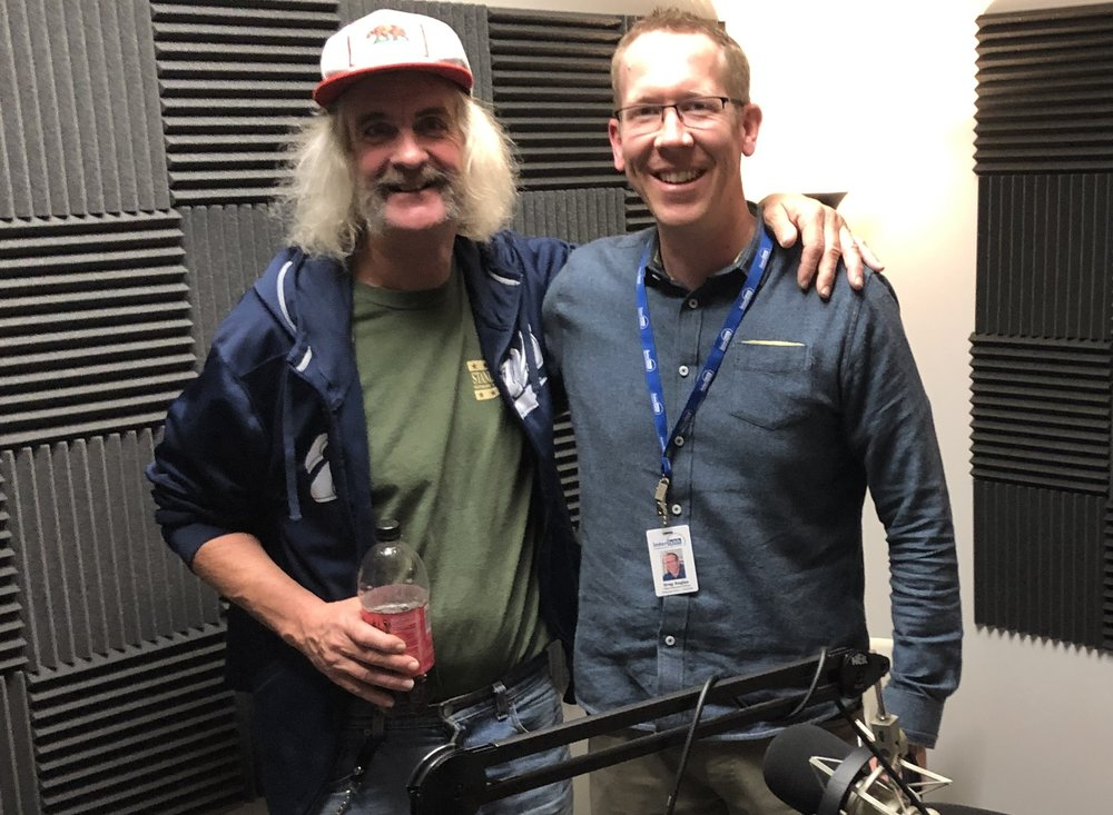 Terry and Greg in the podcast studio.