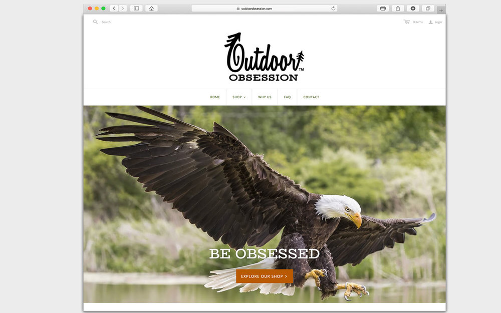 outdoor obsession-web design-portfolio