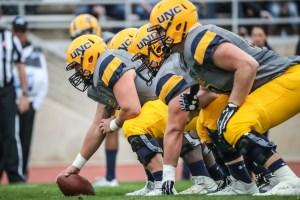 UNC Bears lining up with an array of different uniform combinations. 64 total combinations. (PC: uncbears.com)