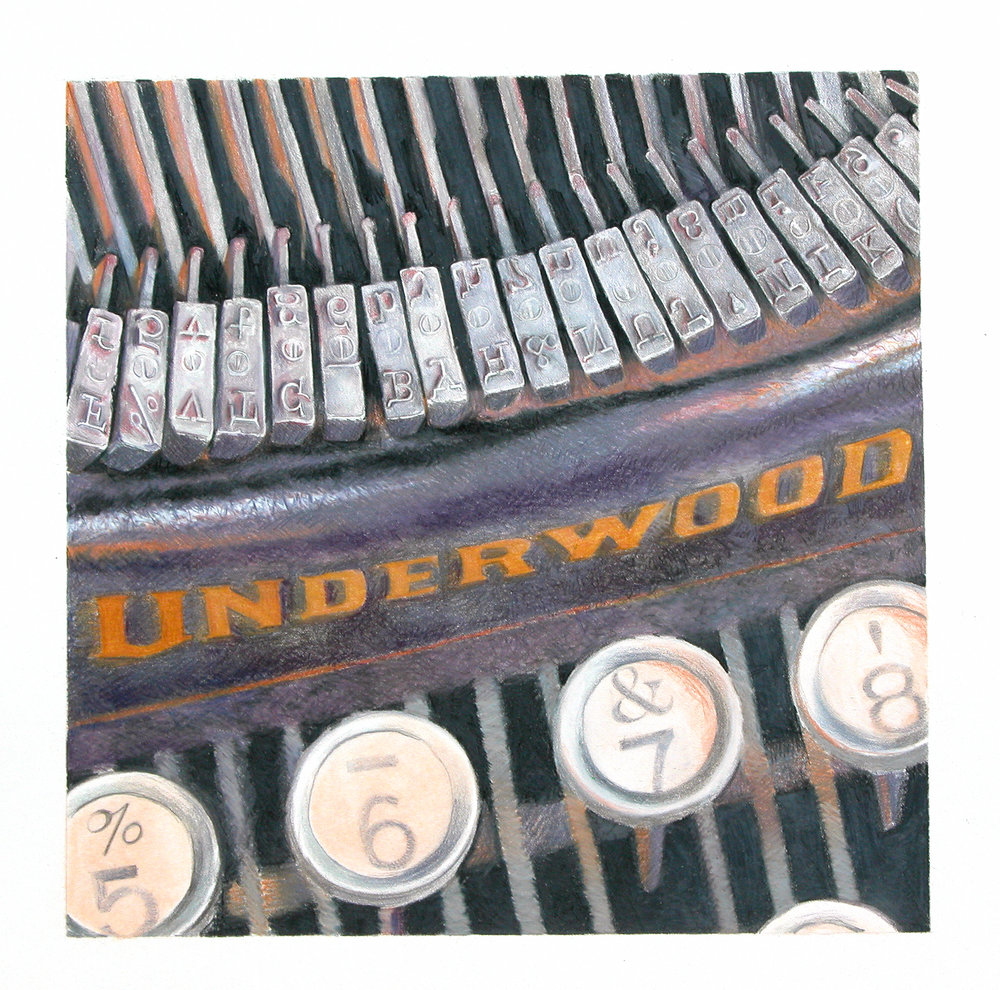 "underwood no.5   14""x14""  (sold)"