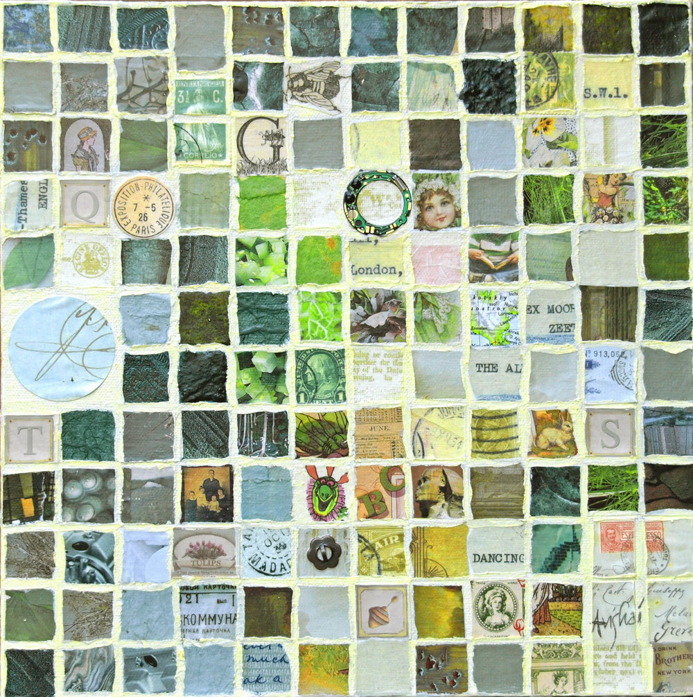 "grid (green)  12""x12""  (sold)"
