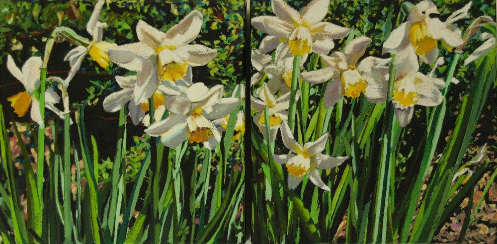 "daffodils 12""x24"" (sold)"