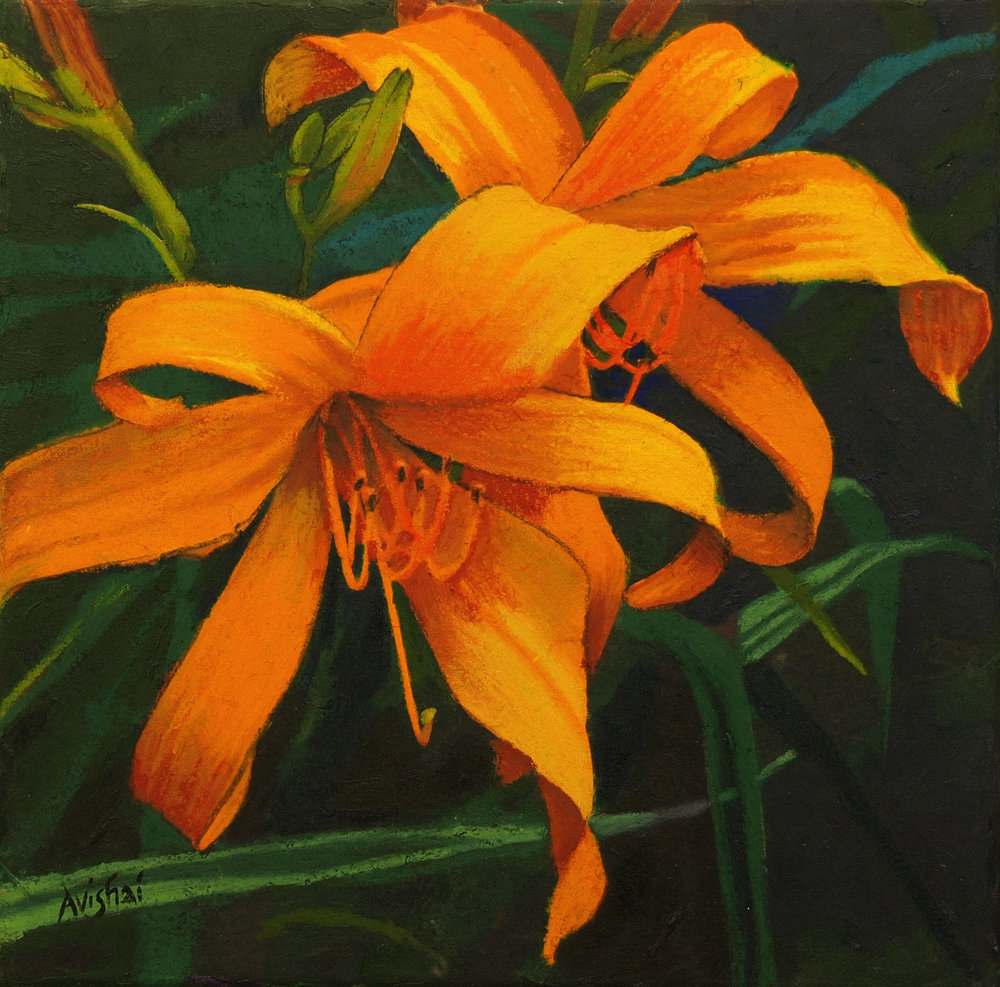 "day lily ll  12""x12"" (sold)"