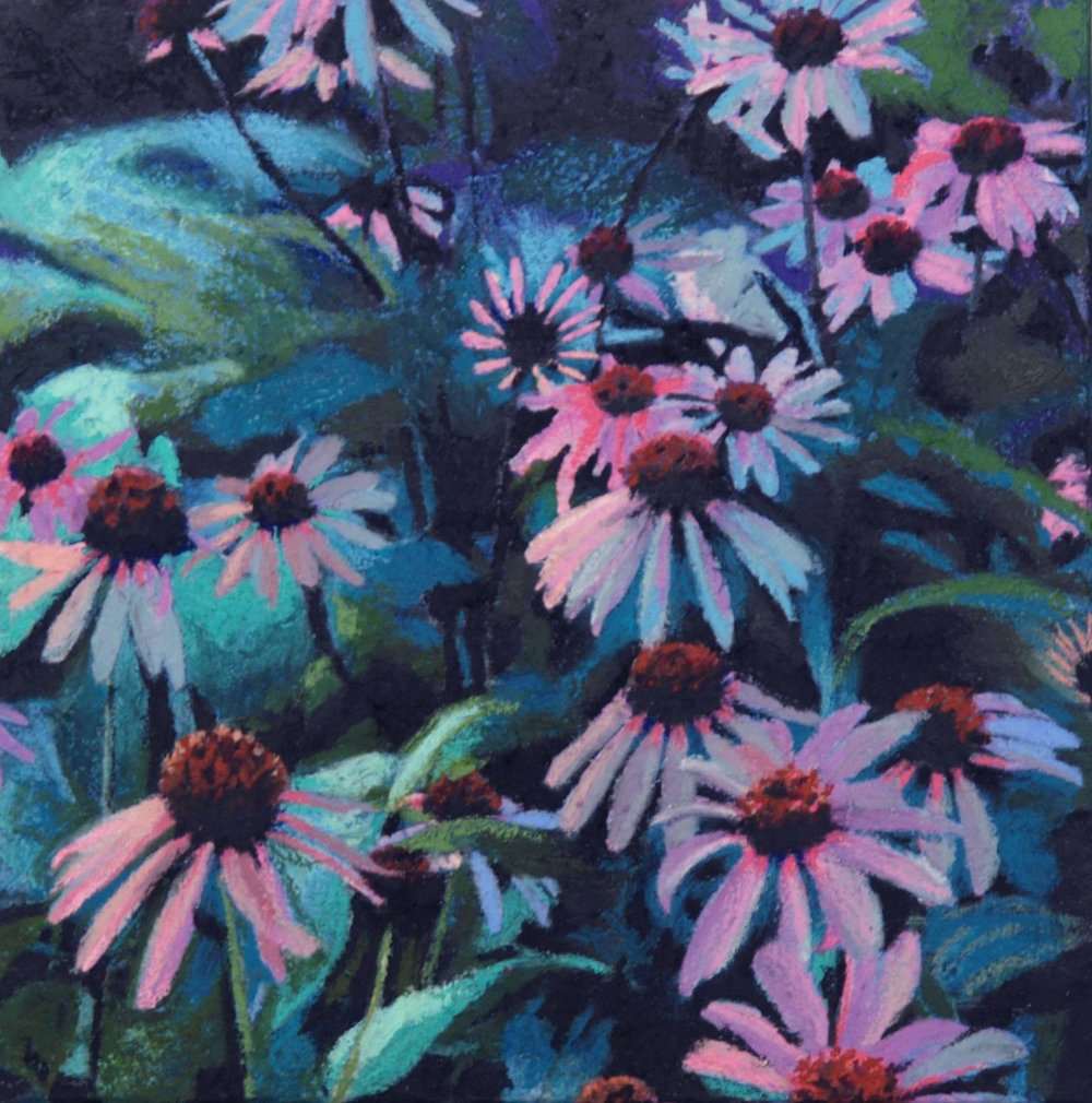 "echinacea lll  12""x12"" (sold)"